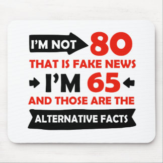 Mousepad presentes de aniversário dos anos de idade do 80