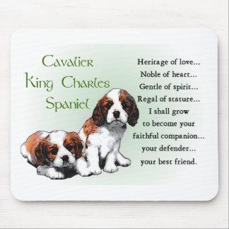 Mousepad Presentes descuidados do Spaniel de rei Charles
