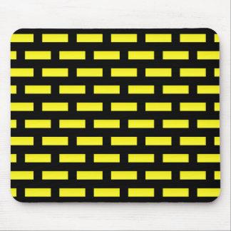 Mousepad Preto e amarelo do teste padrão da parede