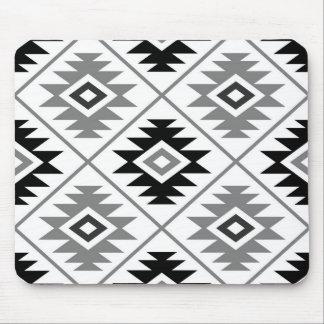 Mousepad Preto grande estilizado do branco cinzento do