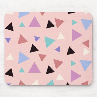 Mousepad Preto roxo da hortelã do rosa geométrico elegante