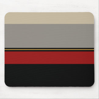 Mousepad Preto, vermelho, cinzas e tan