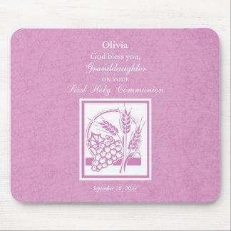 Mousepad Primeiro comunhão da neta, cor-de-rosa
