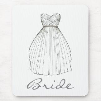 Mousepad Princesa branca Pingamento do casamento do vestido
