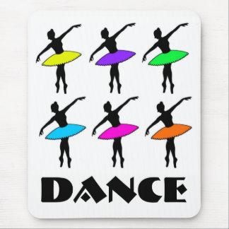 Mousepad Professor de néon Pointe da dança do tutu do balé