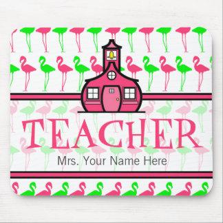 Mousepad Professor teste padrão cor-de-rosa & verde de