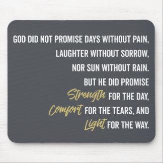 Mousepad Promessa do conforto e da luz da força