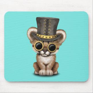 Mousepad Puma bonito Cub do bebê de Steampunk