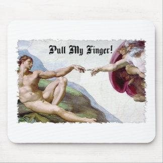 Mousepad Puxe meu dedo - a criação de Michelangelo Fart