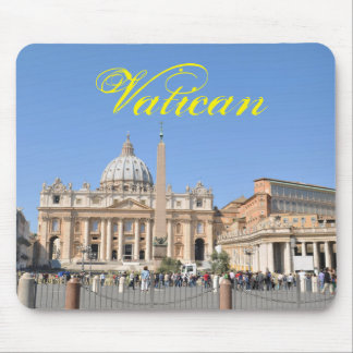 Mousepad Quadrado de San Pietro no vaticano, Roma, Italia
