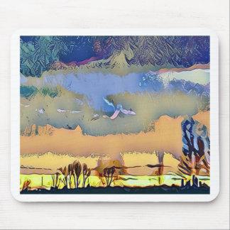 Mousepad Queda clara colorida céu abstrato tonificado do