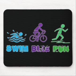 Mousepad Raça de Ironman do Triathlon da maratona do