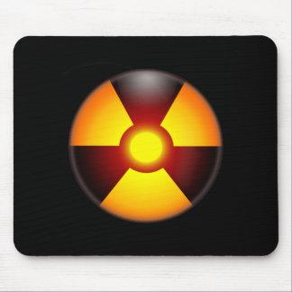 Mousepad Radiação nuclear de advertência