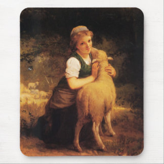 Mousepad Rapariga com cordeiro