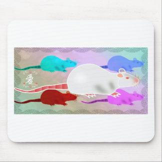 Mousepad Ratos Trippy do animal de estimação do arco-íris