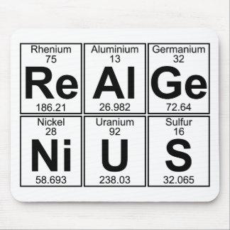 Mousepad Re-Al-GE-Ni-U-s (gênio real) - cheio