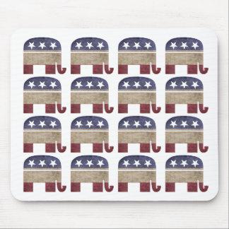 Mousepad Rebanho do GOP republicano dos elefantes
