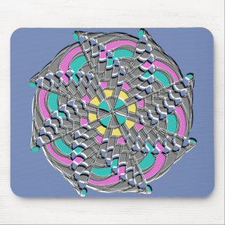 Mousepad Redemoinho geométrico colorido -