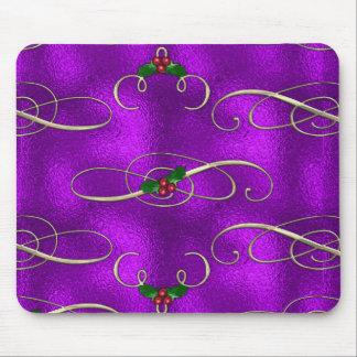 Mousepad Redemoinhos românticos do Natal do Lilac