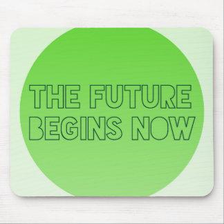 Mousepad Refrigere a tipografia futura verde das citações