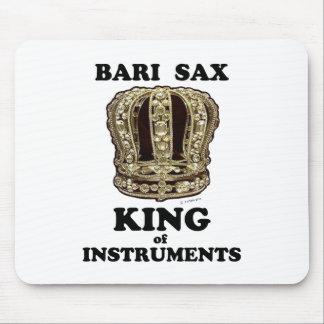 Mousepad Rei do saxofone de Bari dos instrumentos