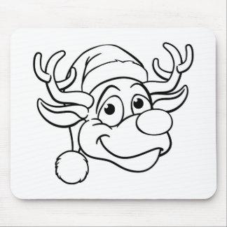 Mousepad Rena do Natal do chapéu do papai noel