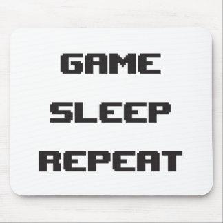 Mousepad Repetição Mouspad do sono do jogo