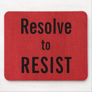 Mousepad Resolução A RESISTIR, texto na foto de linho