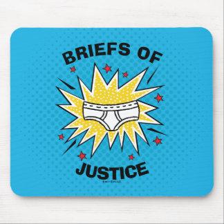 Mousepad Resumos do capitão Cuecas   de justiça