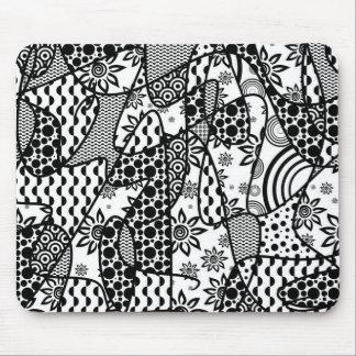 Mousepad Retalhos pretos & brancos 03 do teste padrão