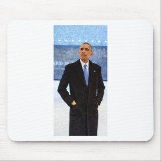 Mousepad Retrato abstrato do presidente Barack Obama 10