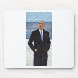 Mousepad Retrato abstrato do presidente Barack Obama 10a.jp
