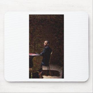 Mousepad Retrato abstrato do presidente Barack Obama 13