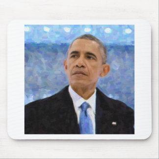 Mousepad Retrato abstrato do presidente Barack Obama 30x30