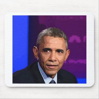 Mousepad Retrato abstrato do presidente Barack Obama 9