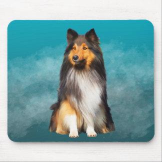 Mousepad Retrato da arte do Sheepdog de Sheltie Shetland