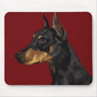 Mousepad Retrato do Pinscher do Doberman, impressão da