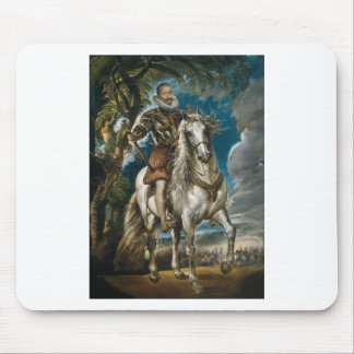 Mousepad Retrato equestre do duque de Lerma - Rubens