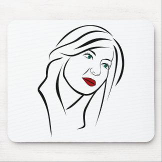 Mousepad Retrato fêmea