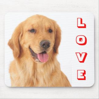 Mousepad Retrato vermelho do cão de filhote de cachorro do