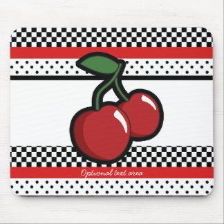 Mousepad Retro vermelho branco do preto vermelho das