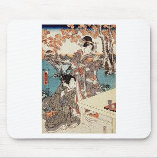 Mousepad Rolo velho da gueixa japonesa do ukiyo-e do