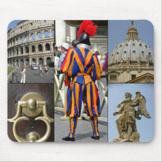 Mousepad Roma a colagem da cidade eterno