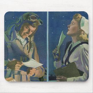 Mousepad Romance da grande distância do piloto e da