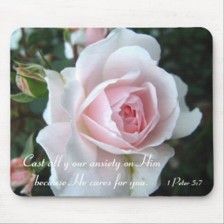 Mousepad Rosa delicado pequeno do rosa