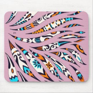 Mousepad Rosa Funky manchado de tinta da arte do teste