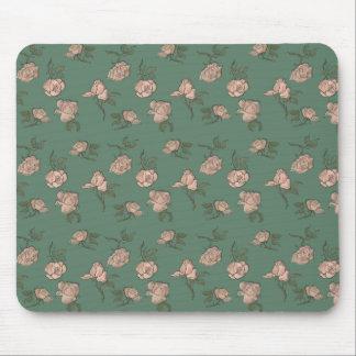Mousepad Rosas cor-de-rosa na turquesa