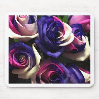 Mousepad Rosas da tintura do laço: Branco, cor-de-rosa, e