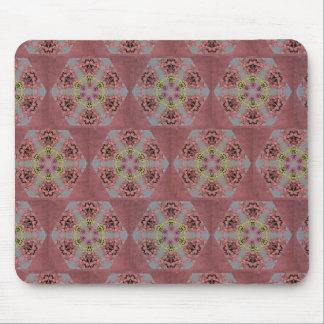 Mousepad rosas do teste padrão do caleidoscópio, os
