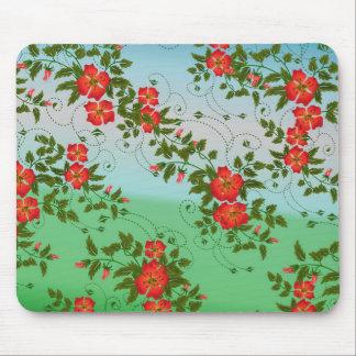 Mousepad Rosas vermelhas elegantes do teste padrão do